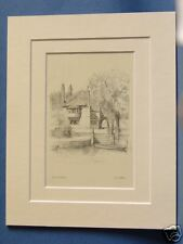 NORFOLK NORWICH PULL'S FERRY 1925 VINTAGE MOUNTED PRINT