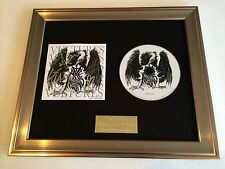 PERSONALLY SIGNED/AUTOGRAPHED AXEWOUND - VULTURES FRAMED CD PRESENTATION. RARE.