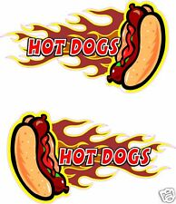 """2 Hot Dogs Concession Hot Dog Fast Food Decal 13"""" each"""