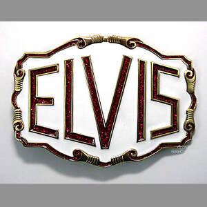 Elvis Rockabilly Gürtelschnalle 50s Rock`n Roll Music Buckle *046 neu