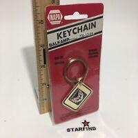 Napa Balkamp FIREBIRD Keychain VINTAGE Brass Enamel Metal Key Chain Ring Rare
