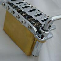 Stratocaster Chrome 2 Point Tremolo Bridge Complete Install Kit