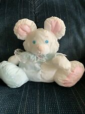 1988 Fisher Price Baby Mouse Puffalump W/Built In Rattle Vhtf 1St Ed Clear Tag