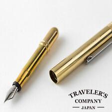 Traveler's company Brass Fountain pen Japan [NEW] Compactly Nice Design MIDORI