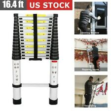 USA 16.4 FT Telescoping Ladder Aluminum Telescopic Extension Extendable Ladder
