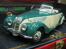 WOW EXTREMELY RARE BMW 327 Cabriolet Green/ Tan in Folding/ Gift Box 1:18 Guiloy