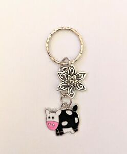 Bag charms Cow keyring bag accessories cow gifts birthday gifts