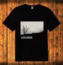 New Seven Samurai Kurosawa Yojimbo Sanjuro Movie Black T Shirt Sizes S to 5Xl