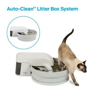 Auto-Clean Litter Box System No Scoop Built In Filter Keeps Smell Free Home NEW