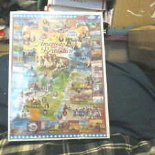 The American Revolution SEALED White Mountain Jigsaw Puzzle 1000 USA Map Art NEW