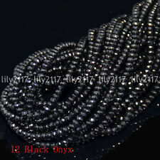 Faceted Natural 2x4mm Multi-Color Gemstone Rondelle Abacus Loose Beads 15'' AAA
