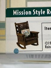 "Vintage Take a Seat by Raine ""Mission Style Rocker c.1908"" 1999 With Coa"