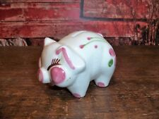Vintage Shawnee? American Bisque Smiling Smiley Pig Piggy Dime Bank