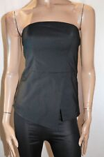 PORTMANS Brand Black Sleeveless Removable Straps Peplum Top Size 8 BNWT #Ti106