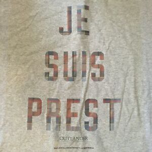 FREE SHIPPING New Men's XL tee TV outlander Je Suis Prest I am ready