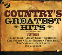 COUNTRY'S GREATEST HITS - HANK WILLIAMS, JOHNNY CASH, JIM REEVES - 2 CD NEU
