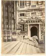 Italia, Genova. Dettagli del Duomo San Lorenzo  Vintage albumen print. Italy.