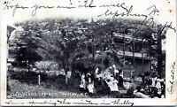 1906 Shelby North Carolina Postcard Cleaveland Springs Resort Hotel Postmark KA