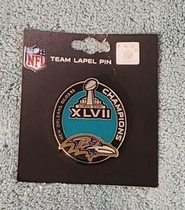 Lapel Pin NFL 2013 Super Bowl XLVII 47 Champions Baltimore Ravens