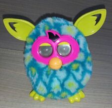 Hasbro Furby Boom Teal Interactive Talking Peacock Lime Green Ears Works Great
