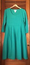 NEW Women's Dress Medium Teal empire waist Easy Fit Pleated cotton mix Paragon