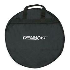 24 Inch Durable Nylon 10mm Thick Padded Black Cymbal Bag Case w Shoulder Strap