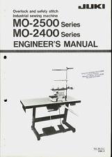 Juki MO-2500/2400 Series Industrial Sewing Machine Orig Engineers Service Manual