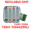 Refillable T2941 cartridge with ciss for epson WF-2630 WF-2650 WF-2660 WF-2750