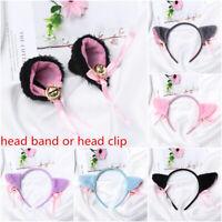 Anime Cosplay Cat Ear Head Band Small bell Cartoon Hair Band Hair Accessories