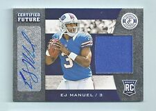 E. J. MANUEL 2013 TOTALLY CERTIFIED FUTURE RC JERSEY AUTOGRAPH AUTO /149 BILLS