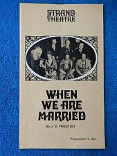 When We Are Married - Strand Theatre Playbill - 1970 - Peggy Mount - Hugh Lloyd