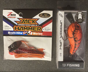 Z-Man Jackhammer Fire Craw 1/2oz & 13 Fishing Jabber Jaw Mudbug Punch