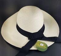 ProPuebo the Original Panama Hat Ladies Handmade Ecuador Packable Travel Cruise