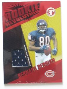 BERNARD BARRIAN 2004 Topps ROOKIE Revolution Jersey Card #RR-BB RC CHICAGO BEARS