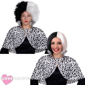 EVIL DOG LADY WIG & CAPE SET FILM BOOK WEEK CHARACTER FANCY DRESS HALLOWEEN