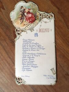 MENU ANCIEN 1899