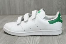 54 Adidas Stan Smith Men's Shoes Straps Cloud White-Green S75187 Shoes 9 9.5 10
