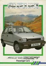 Suzuki Alto & Swift 1.3 GS 1986 UK Market Foldout Sales Brochure