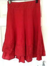 Per Una Red Ladies Linen Skirt Size 10r