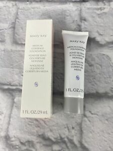 MARY KAY BRONZE 607 MEDIUM COVERAGE FOUNDATION Wide Gray Cap New Hard to find