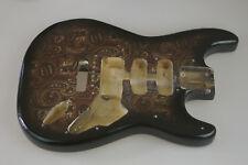 Harley Benton Deluxe Stratocaster Strat Cuerpo Negro Paisley Series 1012