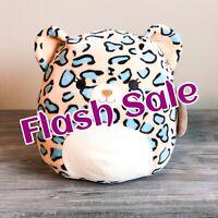 "Kellytoy Squishmallow 8"" Blue Leopard Cheetah S19 NEW HTF Plush Toy Spring 2020"