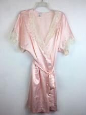 Nwt Vintage S Womens Satin Robe Sara Beth Pink Mid Length