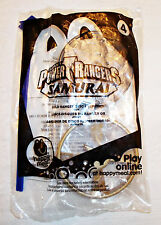 Power Rangers Samurai Gold Ranger Disc Launcher McDonald's toy 2011 NIP sealed