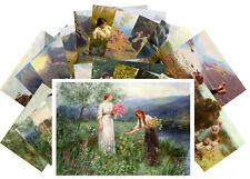 24 Postkarten Set * Country Girl Rural Landscapes Retro by Hans Dahl CD3006