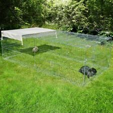 Pet Metal Run For Rabbits and Guinea Pigs With Escape Barrier  200 x 100 x 60 cm