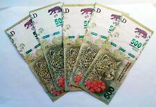 5 Billets de banque USED  2019   Argentine 500 Pesos  JAGUAR , plis , fold AR49