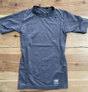 Nike Pro Fitted Short Sleeve Boys' Base Layer LARGE 12-13 years 152-158 Footba