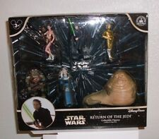 Disney Star Wars ROJ Collectible Figures Set Return Jedi Jabba Slave Leia C3PO G