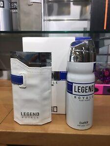 Legend Royale Set Pour Homme  EDT 3.4 Fl Oz  new